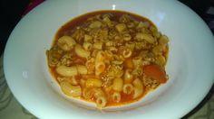 Tupun tupa: Jauheliha-tomaattikeitto makaronilla