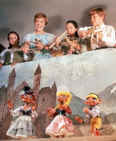 The children and Maria perform their puppet show in 'The Sound of Music'