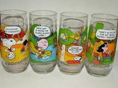 McDonald's Peanuts Glasses....we had these when I was little...wish the rents would have kept them- I love Snoopy.