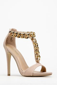 Ankle ChainT Strap Heels