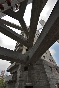 SESC Pompeia, cultural and sports center designed by Lina Bo Bardi (1977-1986), São Paulo, Brazil