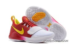 newest collection 7633a 95c50 Nike PG 1  Hickory  PE Deep Red Gold White Authentic