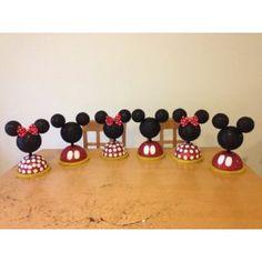 Paquete De 8 Centros De Mesa De Mickey Y Minnie Mouse 6po8yn