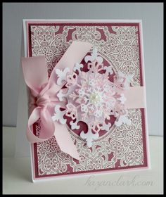 Amy Tedder's Lace Oval Frame Background Stamp and Lace Vintage Labels three - JustRite Inspiration Little Snowflake, Snowflake Cards, Christmas Snowflakes, Create Christmas Cards, Xmas Cards, Holiday Cards, Christian Christmas Gift, Card Making Designs, Card Designs