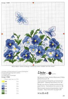 Ponto cruz: Almofadas de flores