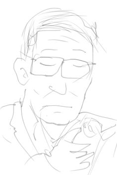 I drew a 50 or 60 years old man on the Hanzomon line.