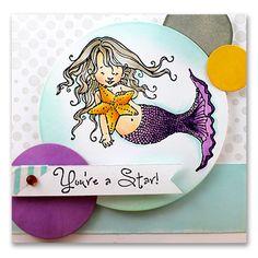 30-183 Mermaids Clear Stamp