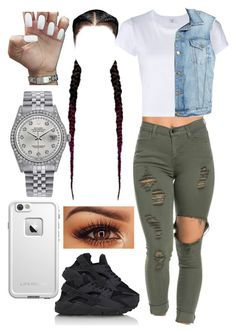 """Untitled #484"" by foreverkaylah ❤ liked on Polyvore featuring RE/DONE, NIKE, Frame Denim, Rolex and LifeProof"