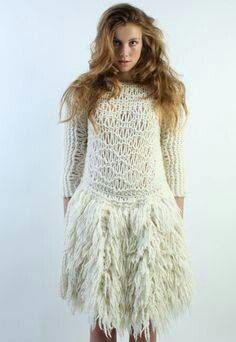 Knitwear Fashion, Knit Fashion, Knit Skirt, Knit Dress, Macrame Dress, Fashion Themes, Knitting Wool, Special Dresses, Textiles