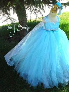 The Ultimate Queen Elsa Tutu Dress ALL SIZES by LolaJBoutique by oldrose