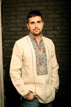 What about your beau - does he need a new vyshyvanka? Indian Men Fashion, Folk Fashion, African Fashion, Womens Fashion, Groom Shirts, Boys Shirts, Indian Groom Wear, Mens Kurta Designs, Baggy Clothes