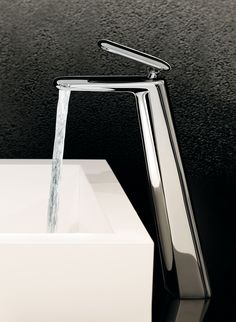 Deck-mounted wash basin mixer for washbowl, Chrome finishing