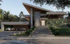 Ideas home desng exterior architecture Modern Exterior House Designs, Modern Villa Design, Dream House Exterior, Modern Architecture House, Exterior Design, Architecture Design, Facade Design, Contemporary Design, House Front Design