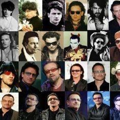 Bono through the years