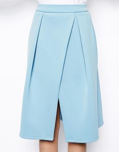 Enlarge ASOS Midi Skirt with Crossover Front in Scuba