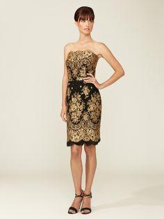 Carolina Herrera Gold Lace Strapless Dress - was $2,990 now $999