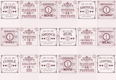 Love Coupon Matchbooks: A DIY/printable project