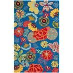 Four Seasons Blue/Red 8 ft. x 10 ft. Indoor/Outdoor Rectangle Area Rug