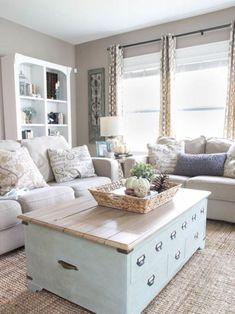 04 Cozy Farmhouse Living Room Makeover Decor Ideas