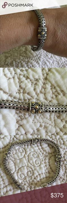 "John Hardy bracelet Authentic sterling silver 925 and 18k gold John hardy cable bracelet. 7 3/4"" length. EUC. Recently polished. No Trades! No lowball offers please. John Hardy Jewelry Bracelets"