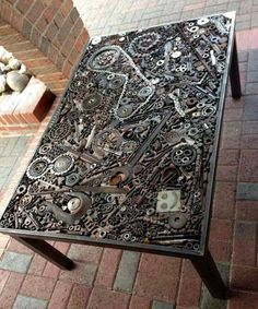 The Coolest DIY Coffee Tables Ideas DIY Projects is part of Steampunk furniture - The Coolest DIY Coffee Tables Ideas Steampunk Furniture, Metal Furniture, Cool Furniture, Outdoor Furniture, Steampunk Desk, Vintage Industrial Furniture, Inexpensive Furniture, Industrial Table, Recycled Furniture