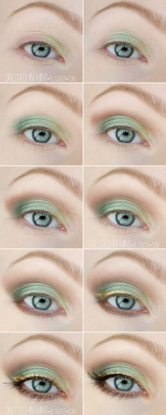 Dressed in Mint: make up. - Garden of Eden / step by step