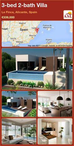 3-bed 2-bath Villa in La Finca, Alicante, Spain ►€339,000 #PropertyForSaleInSpain