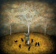 Revel in the Wild Joy - Offset Litho Print  by andy kehoe