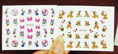 5 sheets Mickey Mouse and Friends water Nail Decal by GlamourFavor