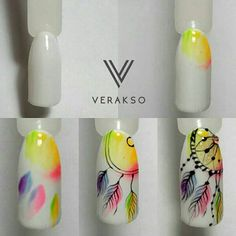 Dreamcatcher watercolor nails