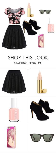 """Untitled #18"" by ac319509 on Polyvore featuring Estée Lauder, Essie, Giuseppe Zanotti and Ray-Ban"