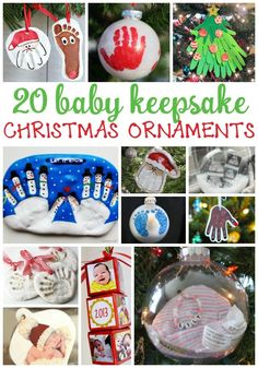 Adorable Christmas ornaments for baby and toddlers! These 20 keepsakes Christmas… Adorable Christmas ornaments for baby and toddlers! These 20 keepsakes Christmas ornaments are so adorable! Baby Christmas Crafts, Babys 1st Christmas, Christmas Projects, Holiday Crafts, Christmas Holidays, Christmas Decorations, Homemade Christmas, Christmas Gifts For Babies, Baby Christmas Activities
