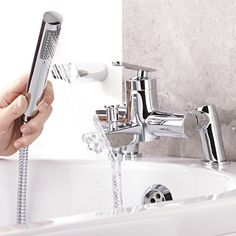 The Series U tub shower mixer faucet will add smart modern style to any bathroom