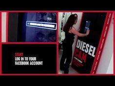 Magasins Diesel équipés de bornes tactile de photos connectées à facebook
