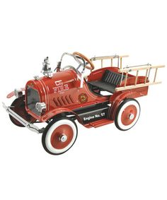 Take a look at this Red Deluxe Fire Truck Pedal Car by Dexton on #zulily today!