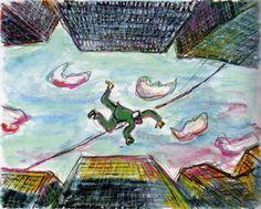 Akira Kurosawa painted storyboard for Dreams (1990) #AkiraKurosawa #Storyboard