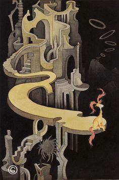 Seuss Theodor Geisel - Pink Tufted Beast in a Night Landscape Dr. Seuss, Dr Seuss Art, Dr Seuss Illustration, Theodor Seuss Geisel, Beast, Francis Picabia, Nerd, Wow Art, Weird Art