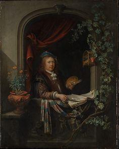 Gerrit Dou, zelfportret, ca. 1665, olieverf op paneel, 48,9 x 39,1 cm.