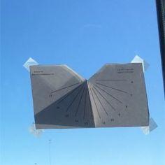 Reloj de sol de ventana
