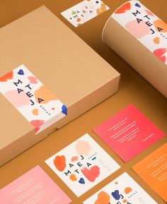 "Visual Identity for an Illustrator Mateja Kovač by Mireldy ""Mateja asked us to create a new visual identity and design for the promotional materials of her brand. We found inspiration for her new visual identity in her gestural strokes and the..."