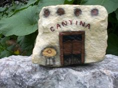 Oldest Rock Art | HAND PAINTED ROCK Old West Cantina