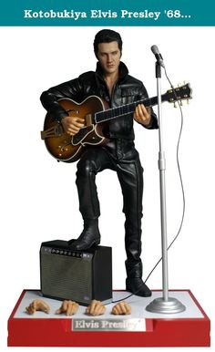 "Kotobukiya Elvis Presley '68 Comback Special ArtFX Action Figure. Kotobukiya and Enterbay have teamed up in a once in a lifetime collaboration to bring you the one and only ""King of Rock and Roll"" in a special ARTFX action figure: ELVIS PRESLEY® '68 COMEBACK SPECIAL! Born in Tupelo, Mississippi in 1935, Elvis Aaron Presley would become one of the biggest musical performers of all time with more than two dozen number one singles during his lifetime and appearances on television and in…"