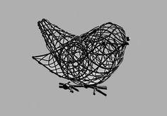 Escultura Decorativa Pássaro Preto - Gift Express