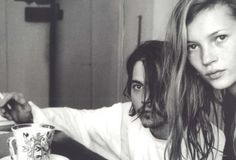 Johnny Depp & Kate Moss over coffee