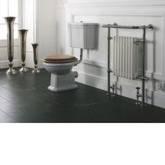 Ethos toilet met laaghangende stortbak - Edwardiaanse stijl toilet met laaghangend reservoir.