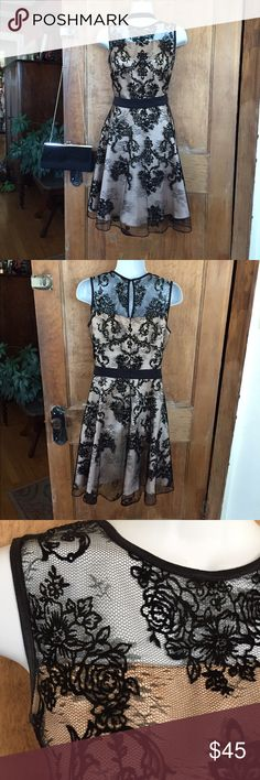 The Limited Lace & Satin Dress Gorgeous satin dress with black lace overlay, satin is champagne color (truest color in pic 3). Black satin waistband, back zip with hook & eye closure. EUC, absolutely nothing wrong with it, only worn once. Fabric care/content in last two pics ❤💕❣️                                                                  ❌ NO TRADES ❌ NO LOWBALL OFFERS                💟 Bundle for discount, 15% off 2+ items 💟 The Limited Dresses
