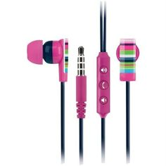 MACBETH COLLECTION iPHONE HEADSET - RIVERIA STRIPE - $4.99
