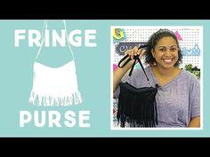 Faux Leather Fringe Purse: Easy Craft Tutorial with Vanessa of Crafty Gemini Creates - YouTube