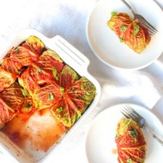 Cabbage rolls with wild rice filling