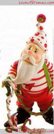 """МК лепка """"Санта Клаус и Эльф"""" -Gumpaste (fondant, polymer clay) Santa Claus and Elf figures sculpting tutorial - Мастер-классы по украшению тортов Cake Decorating Tutorials (How To's) Tortas Paso a Paso"""